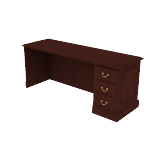 "H94245R | HON 94000 Series Credenza | 1 Box / 1 File Drawer | Right | 72""W"