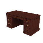 "H94251 | HON 94000 Series Double Pedestal Desk | 2 Box / 2 File Drawers | 60""W"