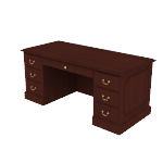 "H94276 | HON 94000 Series Double Pedestal Desk | 2 Box / 2 File Drawers | 66""W"