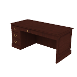 "H94284L | HON 94000 Series  Pedestal Desk | 1 Box / 1 File Drawer | Left | 66""W"