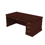"H94285R | HON 94000 Series Single Pedestal Desk | 1 Box / 1 File Drawer | 72""W"