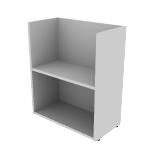 "HNL122428BKE | HON Concinnity Bookcase End Support | 12""W"