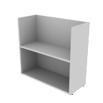 "HNL123028BKE | HON Concinnity Bookcase End Support | 12""W"