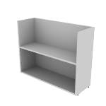 "HNL123628BKE | HON Concinnity Bookcase End Support | 12""W"