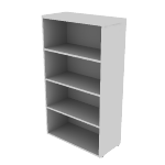 "HNL1530BK4 | HON Concinnity Bookcase | 4 Adjustable Shelves | 30""W"