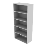 "HNL1530BK5 | HON Concinnity Bookcase | 5 Adjustable Shelves | 30""W"