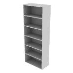 "HNL1530BK6 | HON Concinnity Bookcase | 6 Adjustable Shelves | 30""W"