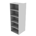 "HNL2424BK5CL | HON Concinnity Bookcase | Coat Hooks | Left | 24""W"