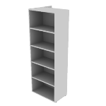 "HNL2424BK5CR | HON Concinnity Bookcase | Coat Hooks |Right | 24""W"