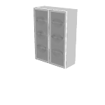 "HNL4936BHFD | HON Concinnity Bookcase Hutch | Frosted Doors w/Silver Frame | 36""W"
