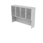 "HNL4966FD | HON Concinnity Stack-on Storage | Frosted Doors w/Silver Frame | 66""W"